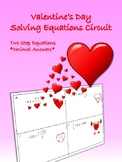 Two Step Equations Valentine's Day Circuit Worksheet