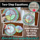 Two-Step Equations Wheel Foldable