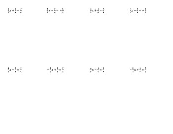 Two Step Equations (With Fractions) Notes