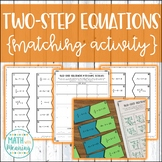 Two-Step Equations (With Integers) Matching Activity - CCS