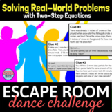 Two Step Equations Word Problems Activity