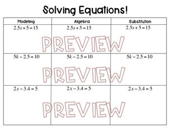 Two Step Equations Worksheet, Homework or Quiz