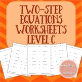 Two-Step Equations Worksheets - Level C