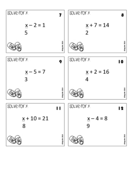 Two-Step Equations - You Got Stomped Math Game