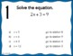 Two-Step Equations and Inequalities Stations Maze
