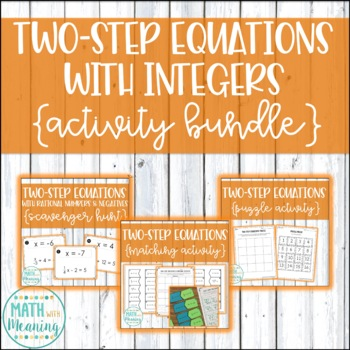 Two-Step Equations with Integers Activity Mini-Bundle