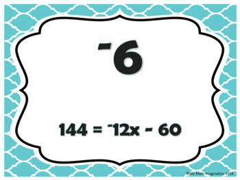 Two-Step Equations with Integers Loop Game