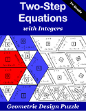 Two-Step Equations with Integers Puzzle