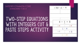 Two-Step Equations with Integers Steps Activity