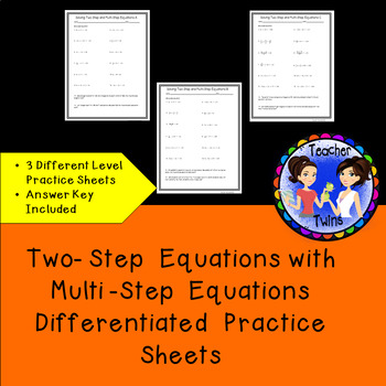 Two- Step Equations with Multi -Step Equations Differentia