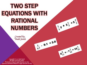 Two Step Equations with Rational Numbers