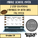 Two Step Equations with Variables on Both Sides Digital Activity