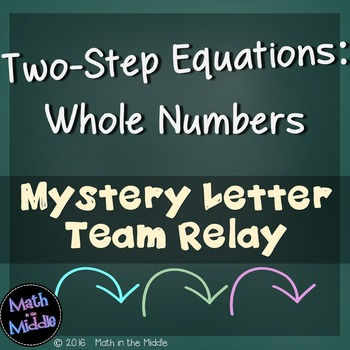 Two-Step Equations (with Whole Numbers) Team Relay