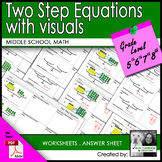 Two Step Equations with visuals