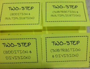 Two Step Equatopn Foldable
