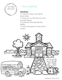 Two-Step Following directions worksheet