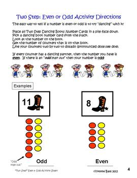 Even & Odd Numbers: Two Step Fun for K-1