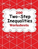 Two-Step Inequalities Worksheets