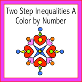 Two Step Inequalities A Color by Number
