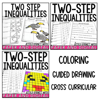 Two-Step Inequalities Activity Pack