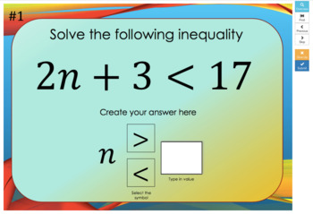 Two-Step Inequalities  – Boom Cards – Works with GOOGLE CLASSROOM