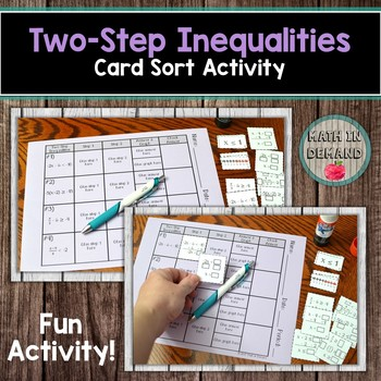 Two-Step Inequalities Card Sort Activity