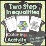 Two-Step Inequalities Coloring Activity {Solving Inequalit