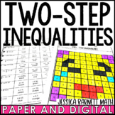 Two-Step Inequalities Coloring Activity