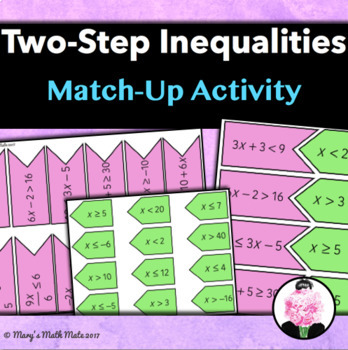 Two-Step Inequalities: Match-Up Activity