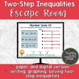 Two Step Inequalities Escape Room--Paper and Digital