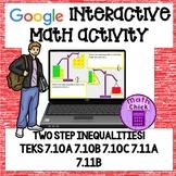 Two Step Inequalities Google Ready! 7th grade! 7.11A 7.11B 7.10A 7.10B 7.10C