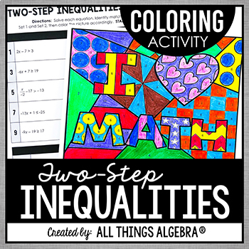 Inequality Coloring Teaching Resources Teachers Pay Teachers