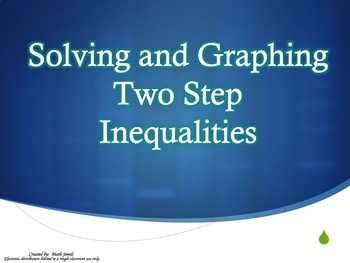 Solving and Graphing Two Step Inequalities (Instructional PowerPoint & Assign.)
