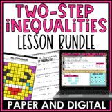 Two-Step Inequalities Lesson Bundle