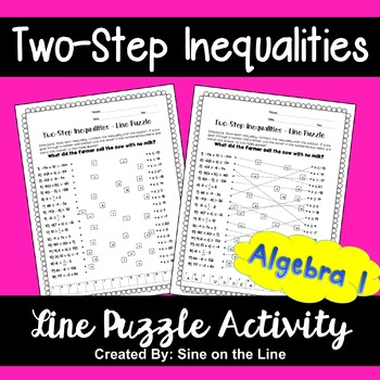 Two-Step Inequalities: Line Puzzle Activity