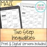 Two Step Inequalities Maze
