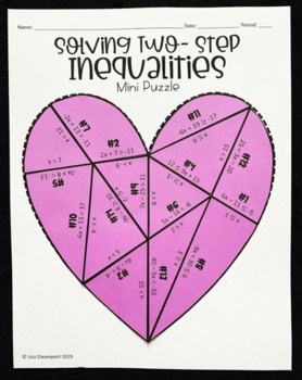 Two- Step Inequalities (Mini Heart Puzzle)