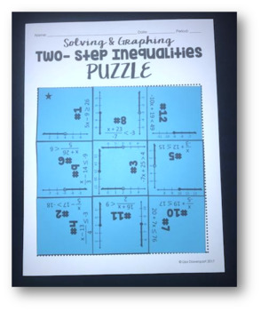 Two- Step Inequalities (Mini Puzzle)
