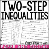 Two-Step Inequalities Mistory Lib Activity