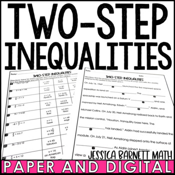 Two-Step Inequalities Mistory Lib Activity