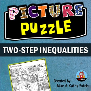 Two-Step Inequalities Picture Puzzle