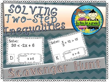 Two-Step Inequalities Scavenger Hunt Activity