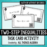 Two-Step Inequalities Task Cards