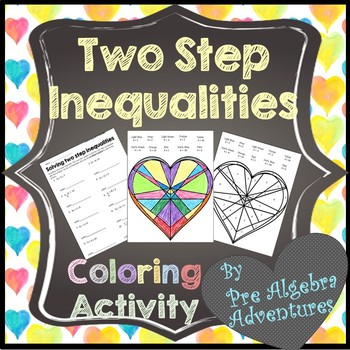 Solving Two Step Inequalities Activity {Solving Inequalities Activity} {Color}