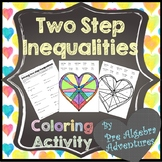 Solving Two Step Inequalities Activity {Valentines Day} {D