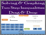 Two Step Inequalities with Graphing Number Line - Drag & D