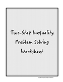 Two Step Inequality Worksheet