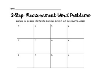 Two-Step Measurement Word Problems