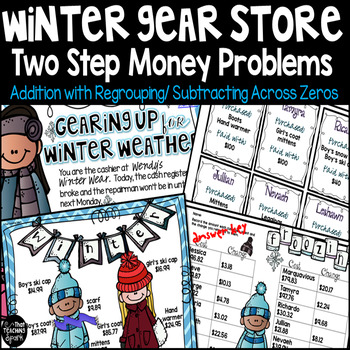 Two Step Money Word Problems with Addition and Subtraction
