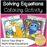 Two Step & Multi-Step Coloring Activity